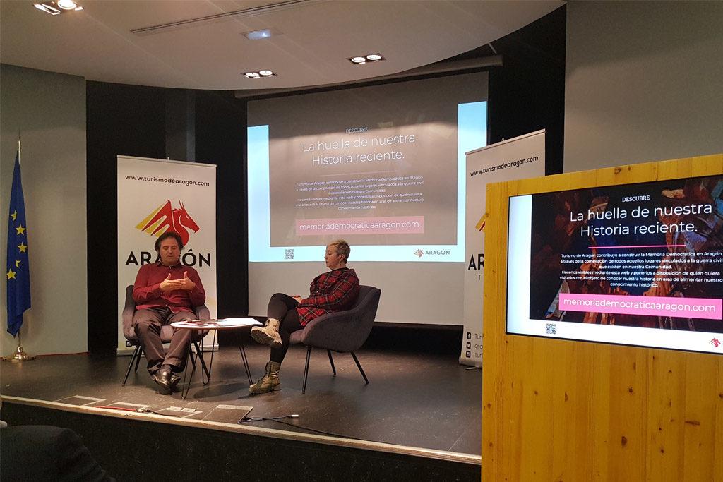 Presentación web memoriademocraticaaragon, Jorge Marqueta y Mercedes Sanchez