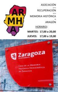 ARMHA en la Casa de la Memoria Histórica Democratica de Zaragoza